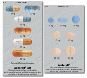 adderall and adderallXR dosages