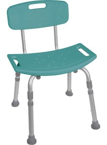 shower chair with back and no arms