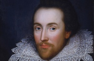 William Shakespeare as a young man