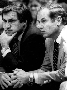 UNC Coach Dean Smith and UNC Coach Bill Guthridge 1970's