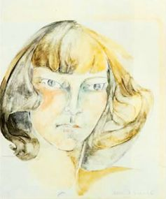 Zelda Fitzgerald Self-Portrait 1940's Going Gentle Into That Good Night
