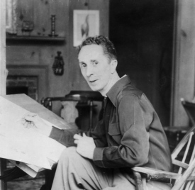 1945 Photo of Norman Rockwell
