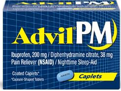 Advil PM is an over-the-counter anticholinergic medication