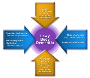 Lewy Body Dementia (graphic courtesy of the Lewy Body Dementia Association - http://www.lbda.org/)