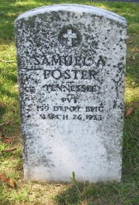 Samuel Anderson Foster (1898 - 1936) Oakland Presbyterian Cemetery, Telford, Tennessee