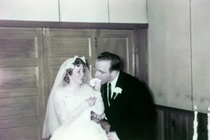 Daddy and Mama Wedding Cake June 9, 1956
