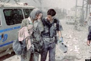 Officer Mike Brennan and unidentified World Trade Center survivor