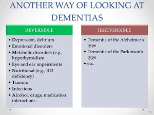 Lifestyle dementias such as alcohol-related dementia can be halted through giving up whatever is causing the cognitive impairment