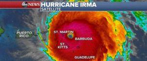Hurricane Irma September 6, 2017 Satellite Image in Color